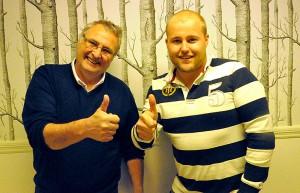 Gunnar Röjdås och Olle Eriksson, på Miljönären i Ludvika.
